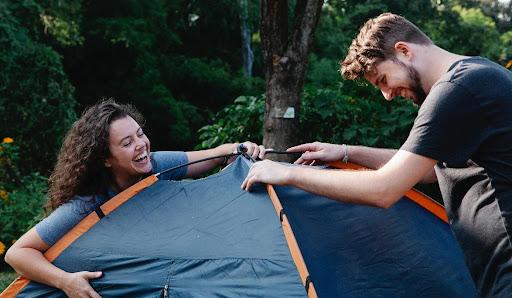 Opbouwen van een Tent